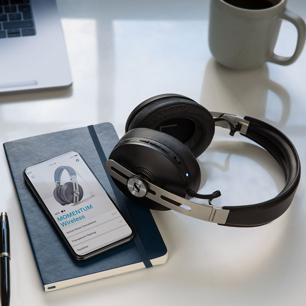 Sennheiser MOMENTUM 3 Wireless Black Headphones - Product Application - Smartphone
