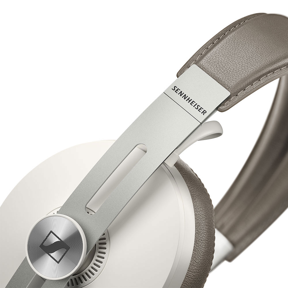 Sennheiser MOMENTUM 3 Wireless White Headphones - Close
