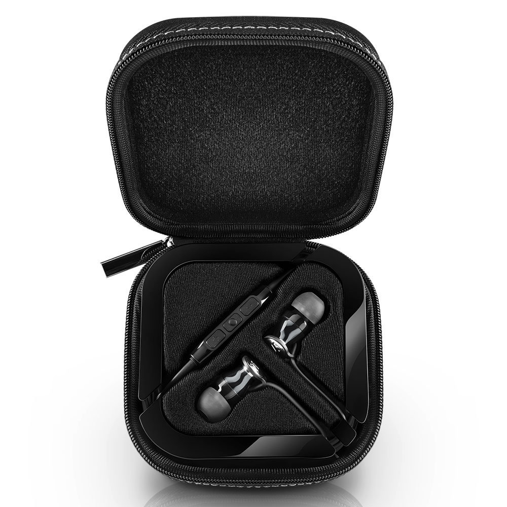 Sennheiser MOMENTUM In-Ear G Black Headphones - Carrying Box Open