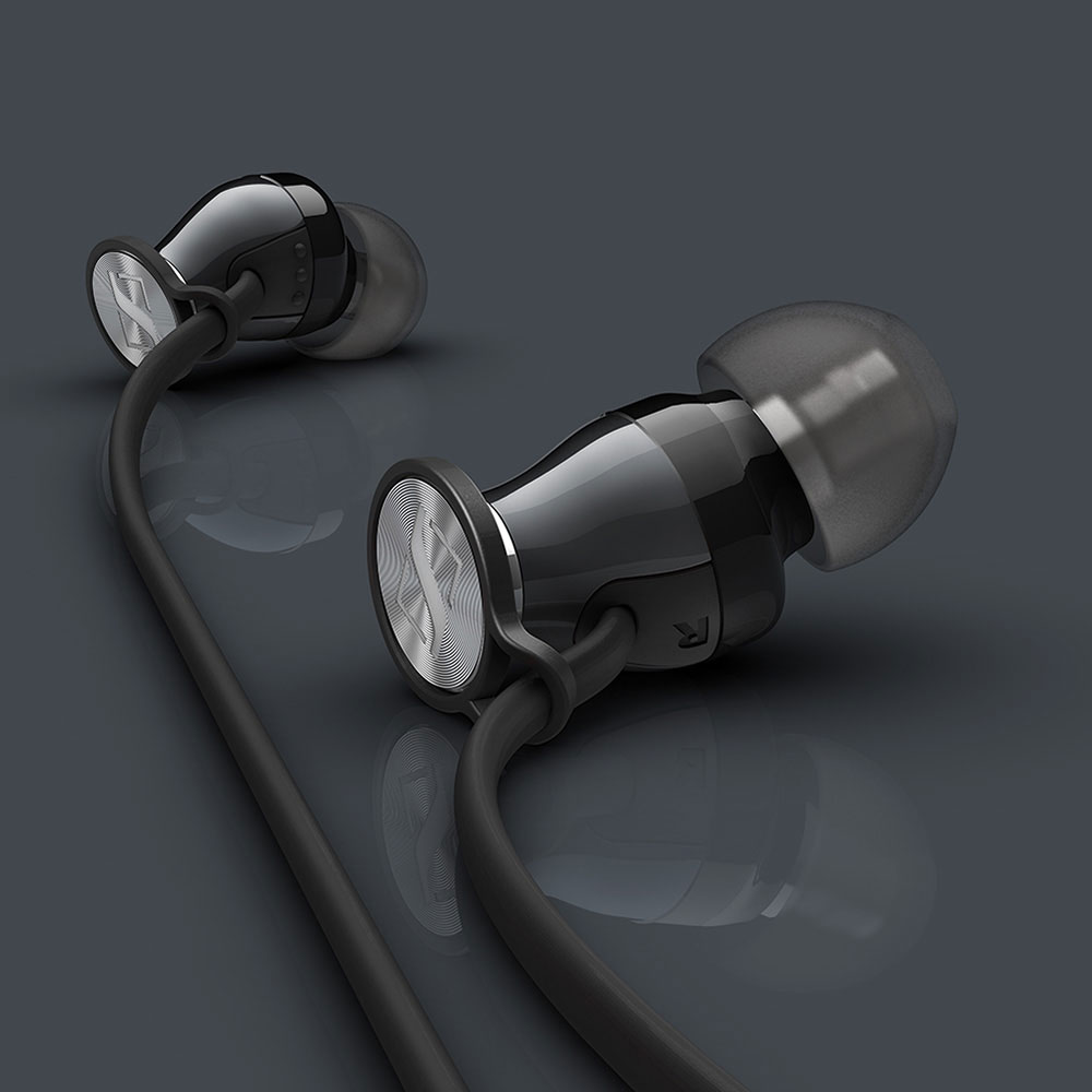 Sennheiser MOMENTUM In-Ear i Black Headphones - Product Shadows