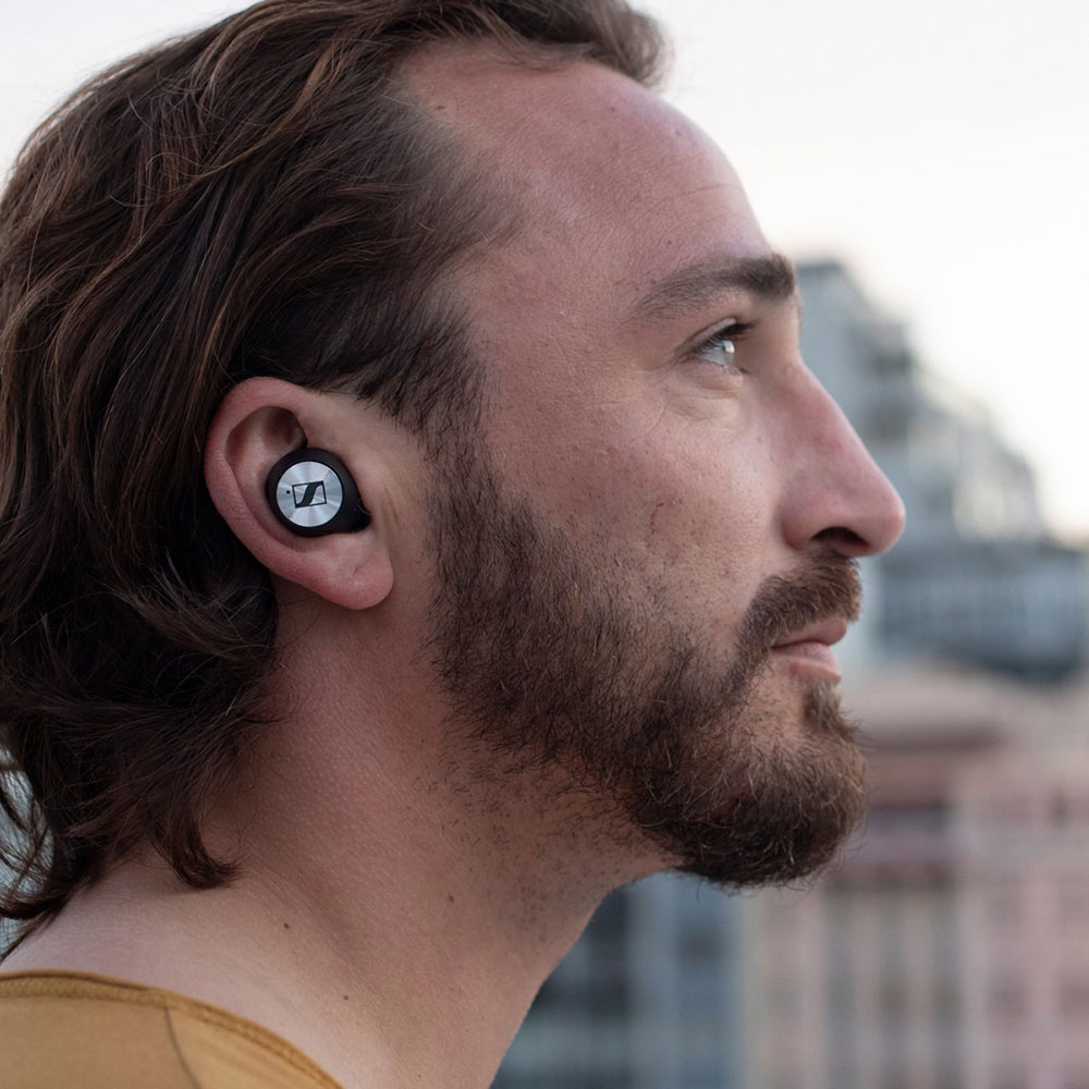 Sennheiser MOMENTUM True Wireless Earbuds - Product Application  - Man Close
