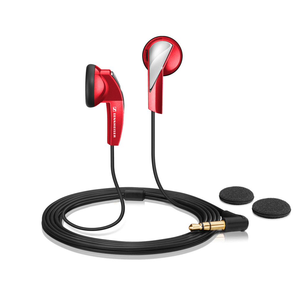 Sennheiser MX 365 Red Earphones - Product Front